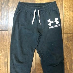 Under armour cropped sweat pants
